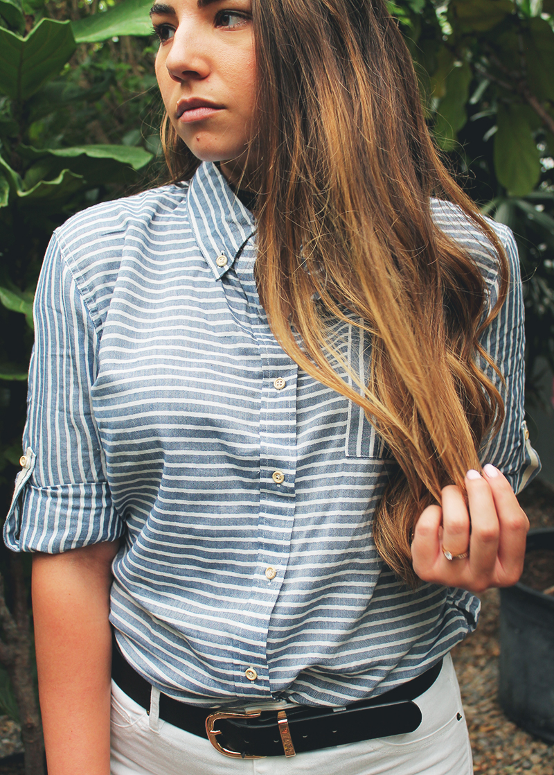 burnette blogger, balayage hair, long hair
