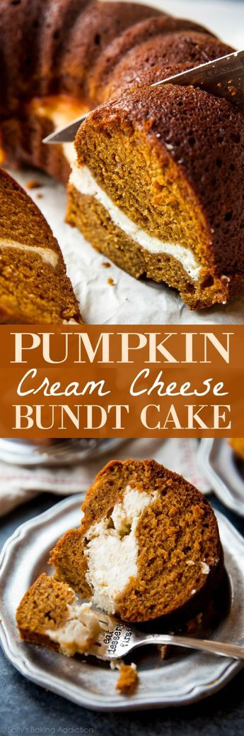 Pumpkin Cream Cheese Bundt Cake Recipe