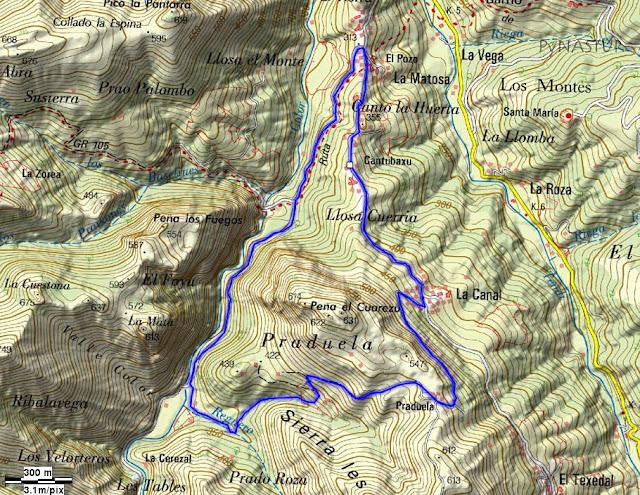 Río Color - Praduela - La Matosa