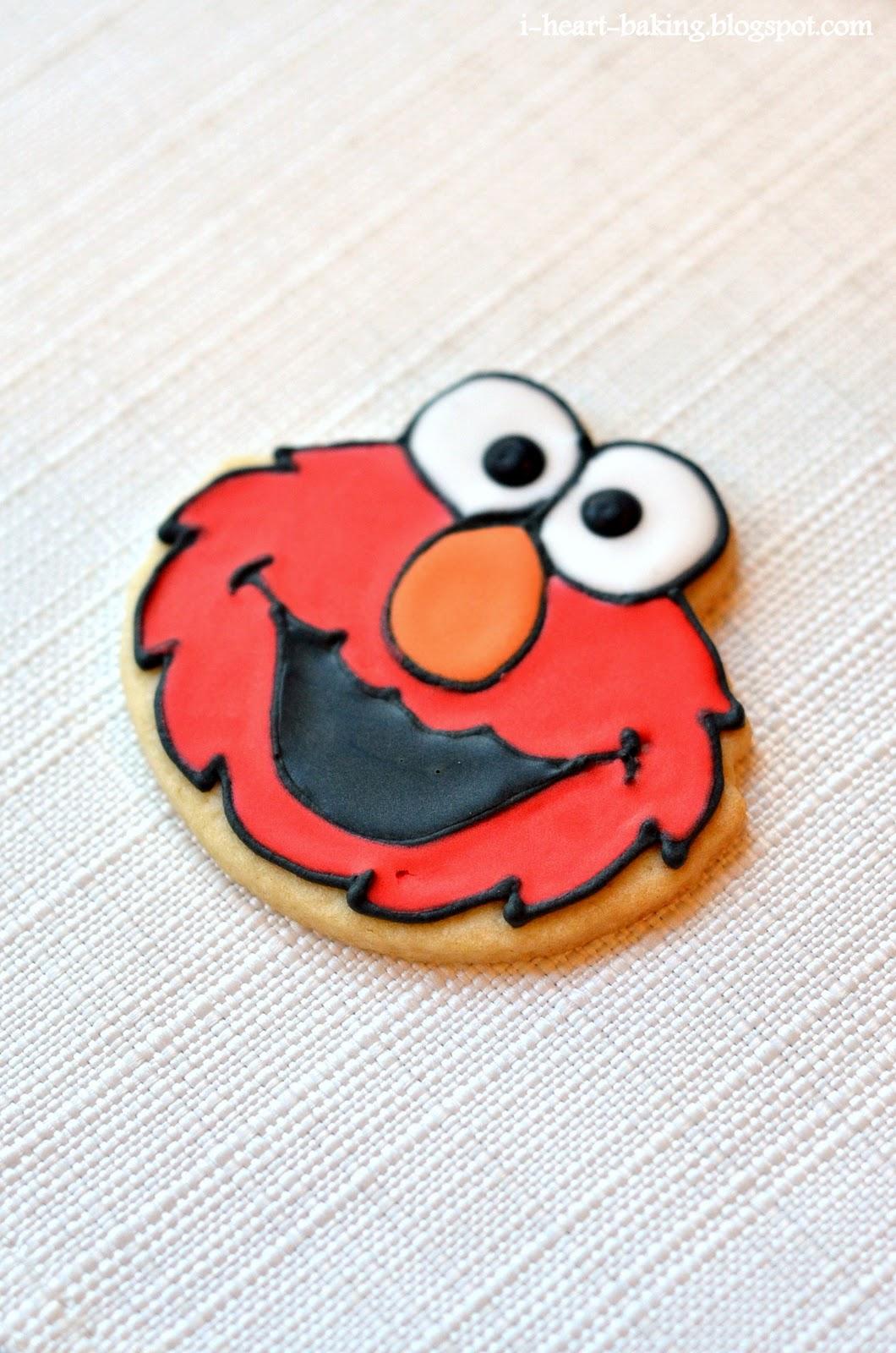 I Heart Baking Elmo Cookies