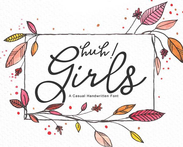 Download Font Terbaru 2018 - Huh! Girls Free Font