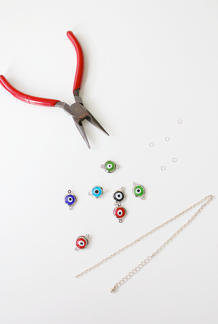 Make Your Own Evil Eye Chain Ring Adventures In Fashion