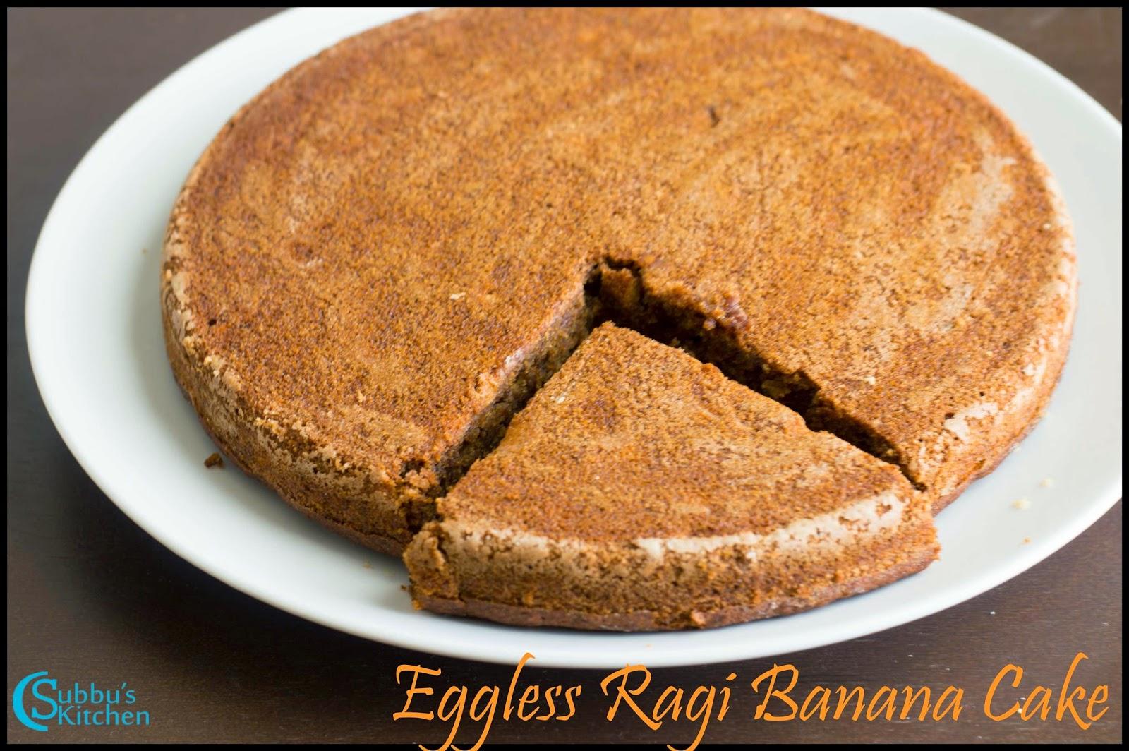 Chocolate Cake Recipe In Pressure Cooker Eggless: Pressure Cooker Eggless Ragi Banana Cake Recipe