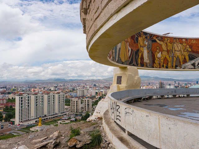 The soviet art work of Zaisan Hill to the south of Ulaanbaatar