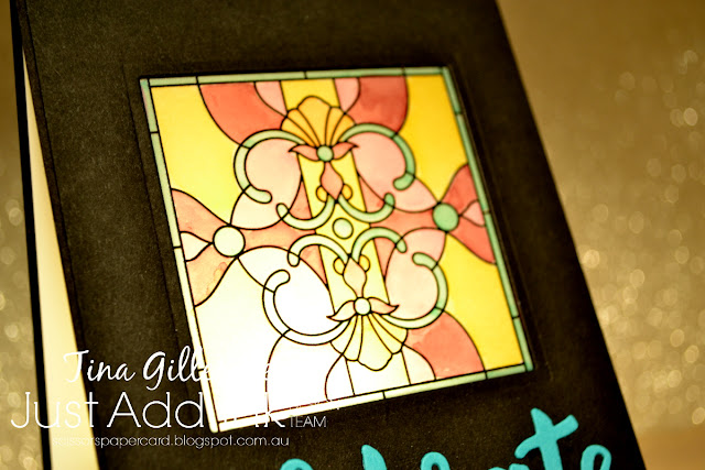 scissorspapercard, Stampin' Up!, Just Add Ink, Painted Glass, Graceful Glass, Celebrate You Thinlits, Blends
