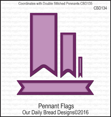 ODBD Custom Dies: Pennant Flags