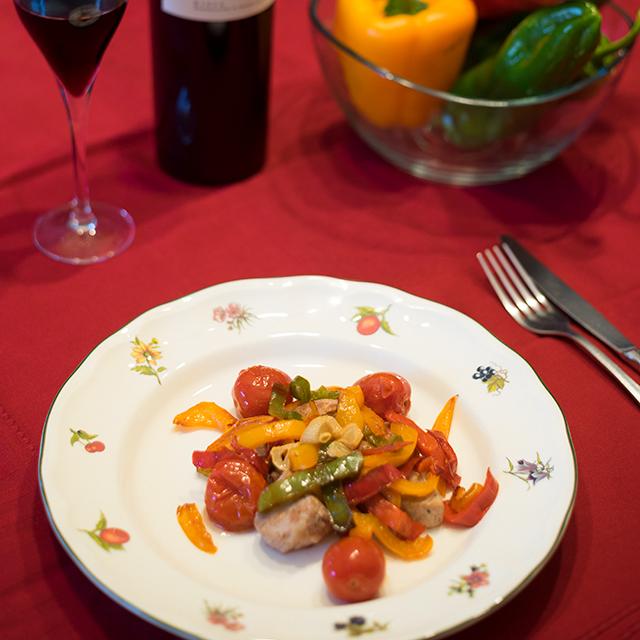 receta de carne con verduras, solomillo de cerdo con verduras salteadas, una manera de comer carne más sana.