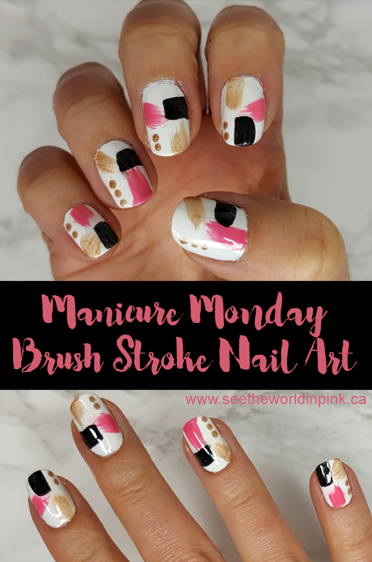 Manicure Monday - Abstract Brush Stroke Nail Art