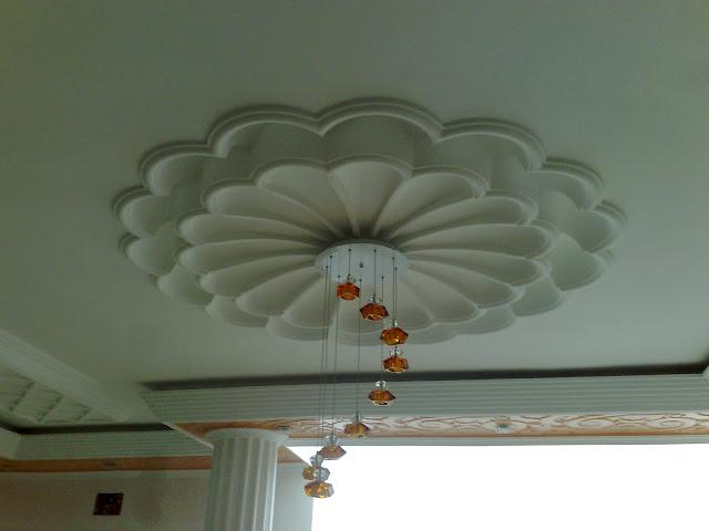 decoration faux plafond platre marocain