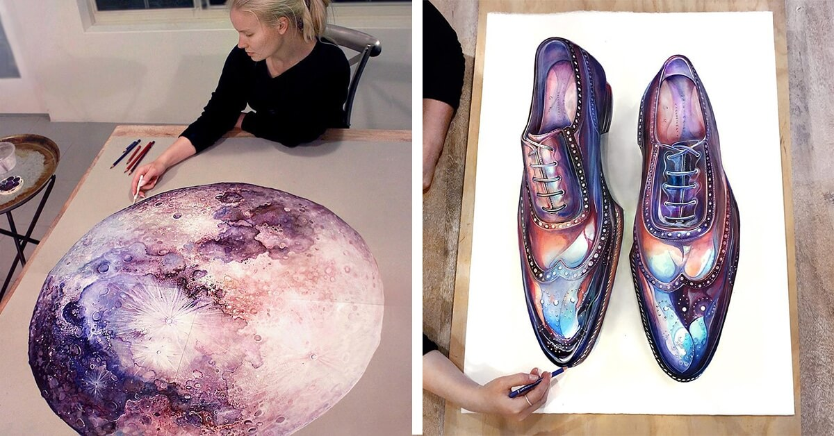 Hyperrealistic Colored Pencil Drawings Depict The Colors Of The Galaxy