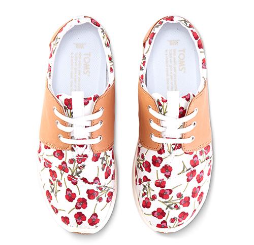 Toms Poppy Sandstorm Leather Del Rey Sneakers