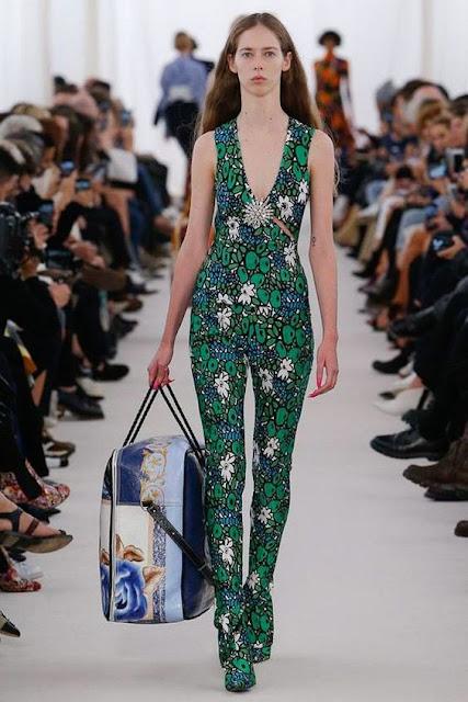 Balenciaga floral jumpsuit ss17