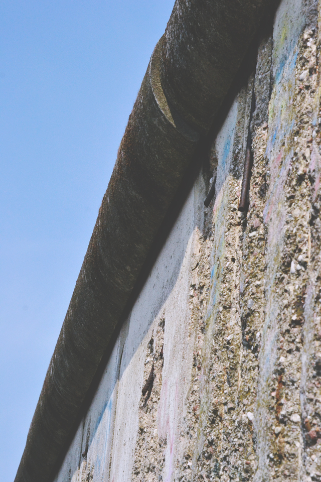 View of Berlin Wall from below