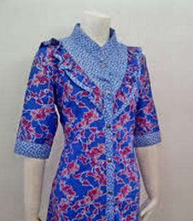 Model Baju Batik Kantor Kombinasi Terbaru