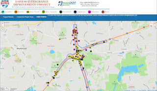 the interactive map for the i495-i90 project