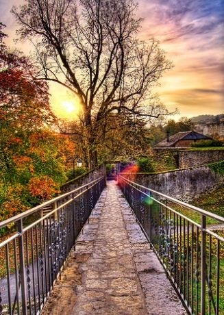Wishing Bridge, Neuchâtel, Switzerland