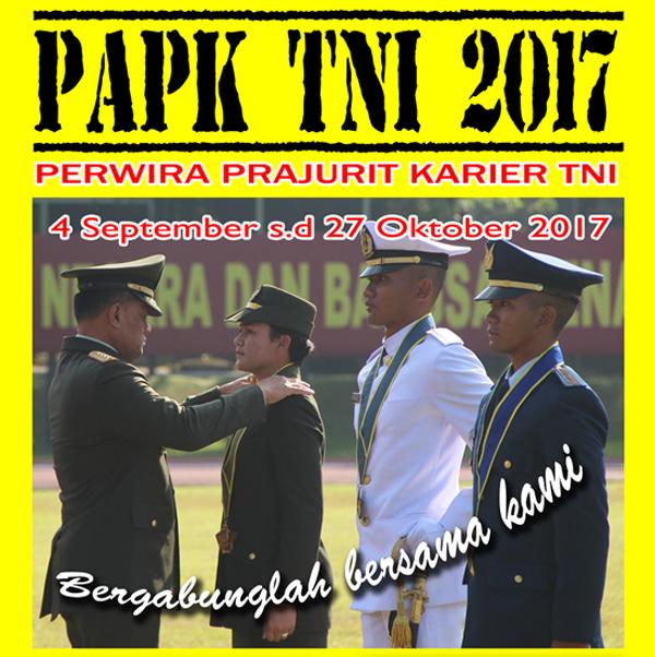 Pendaftaran Calon Perwira PK TNI 2017