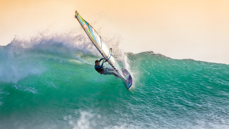 Windsurfing in Indian Ocean
