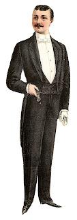 fashion tuxedo men suit illustration digital clipart