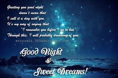 romantic good night messages for him