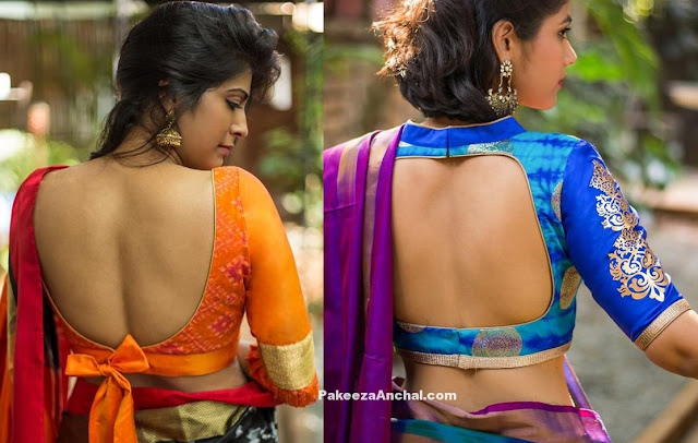 Blouse Designs which leaves you almost Backless