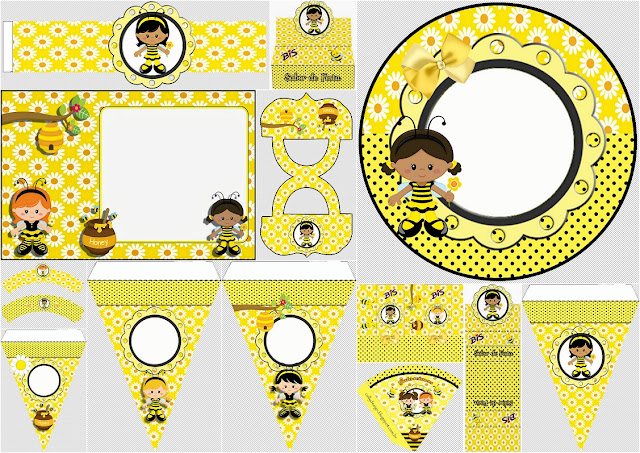 Bee Girl: Free Printable Party Mini Kit.
