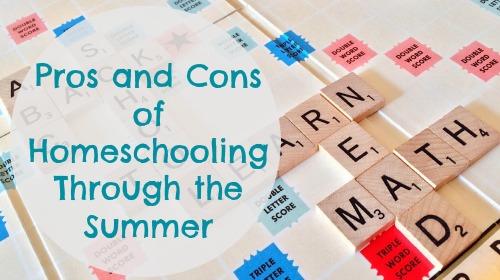 Homeschool in the summer