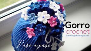 Patrones de Gorro Coletero a Crochet / Paso a paso