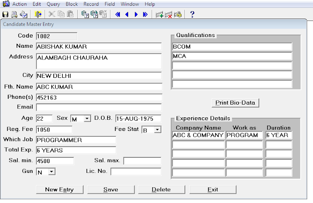Oracle Forms Based Software Project
