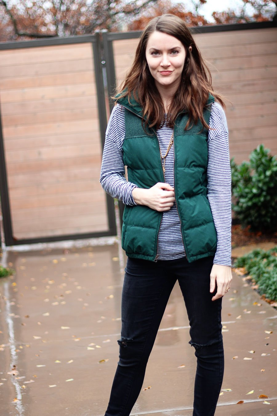 Style: Ripped Jeans & A Puffy Vest