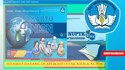 Aplikasi Cetak Kartu NISN dan NUPTK Terbaru