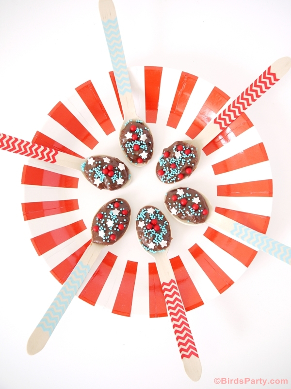 Brazilian Brigadeiro Chocolate Fudge Spoons Recipe - BirdsParty.com