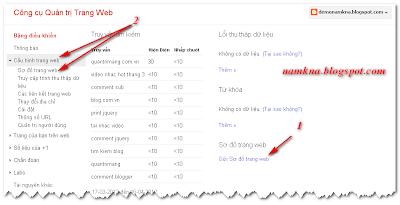 Tạo site map hỗ trợ SEO và page rank cho blogspot  Bài 4. Blogger – Hướng dẫn SEO cho Blog submit sitemap for blogspot de tang seo gap nhieu lan cai thien page rank namkna blogspot com 6
