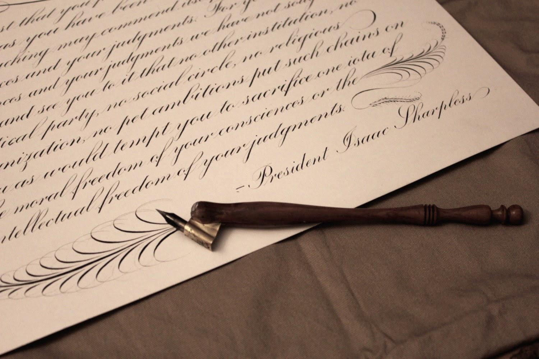 Tywkiwdbi Tai Wiki Widbee Copperplate Writing