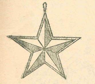 новогодняя звездочка из убмаги
