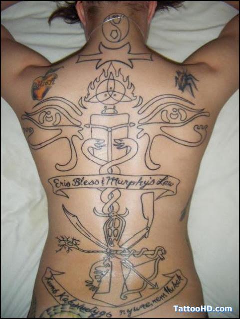 Traseira Completa Egipcio Desenhos De Tatuagem