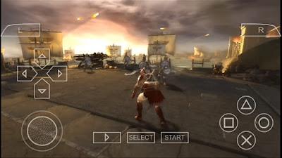 تحميل god of war للاندرويد على محاكي ppsspp مجانا  مضغوطة بحجم بحجم 70MB اله الحرب للأندرويد god of war PSP برابط مباشر كاملة