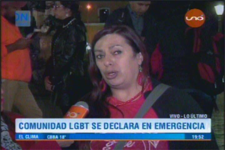 Tamara Nuñez representante colectivo LGTB