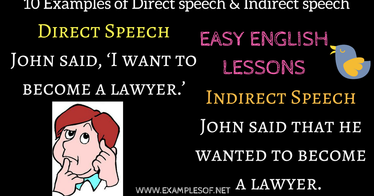 direct and indirect speech examples pdf