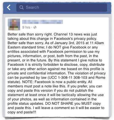 Better to be safe than sorry Facebook post