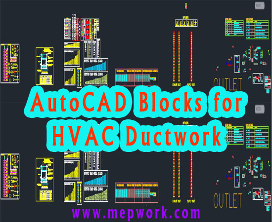 Free AutoCAD Blocks for HVAC Ductwork - DWG | Hvac Drawing Symbols Free |  | MEP WORK