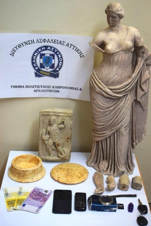 Σύλληψη αρχαιοκάπηλων με άγαλμα της θεάς Αφροδίτης