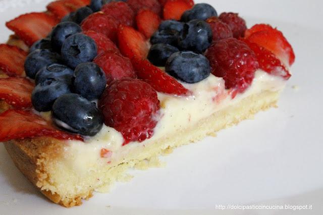 crostata di frutta fetta ricetta