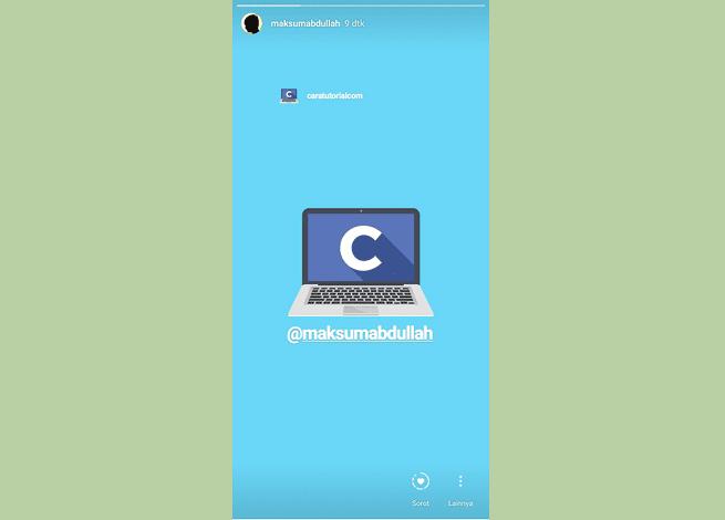 Cara Repost Story Instagram Orang Lain di Android
