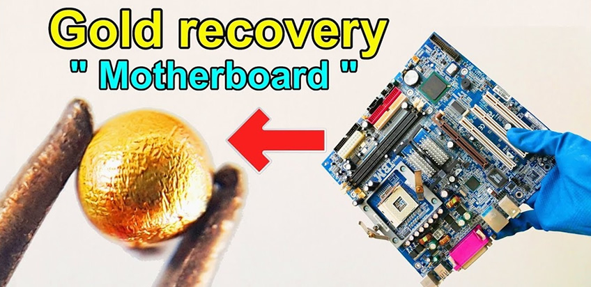 Gold extraction process: How to recycle gold from cpu