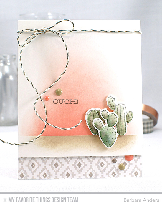 Handmade card from Barbara Anders featuring  Laina Lamb Design Sweet Succulents stamp set, Llama Love stamp set and Die-namics #mftstamps