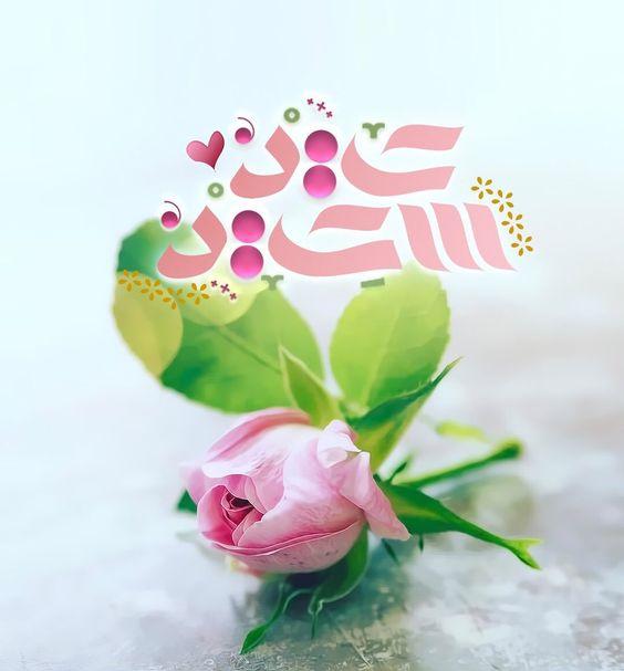 unique pink flower eid mubarak wishes