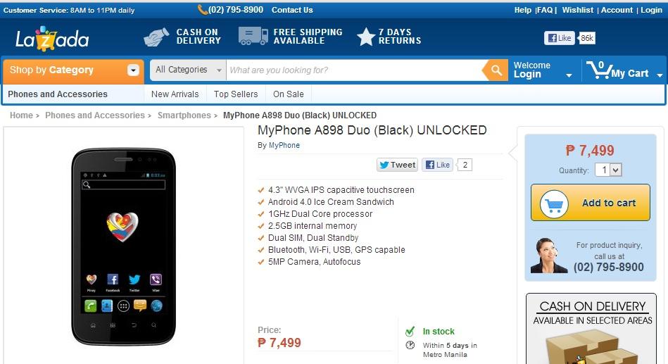 MyPhone A898 Duo - Lazada
