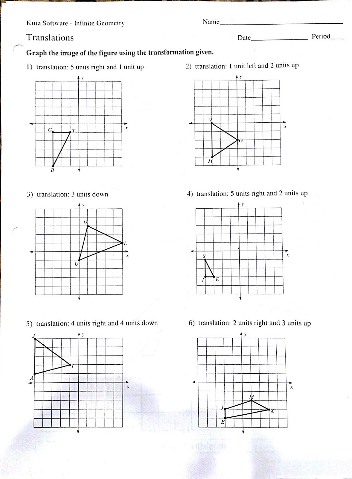 Worksheet Geometry Translations Worksheet Worksheet Fun