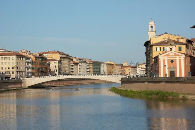panorama miasta, Toskania, Piza, Włochy